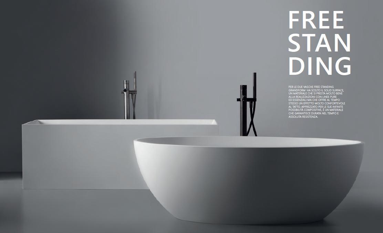 Vasca Da Bagno Grandform : Grandform la nuova vasca dal design minimale il commercio edile