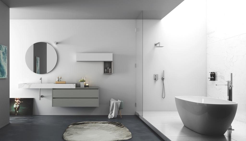 Puntotre mobili sistema gola - Laminato in bagno ...